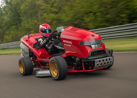 HONDA'S MEAN MOWER V2 SETS ACCELERATION RECORD